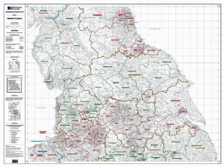 OS Administrative Boundary Map Local Government - Sheet 5 - Northern England